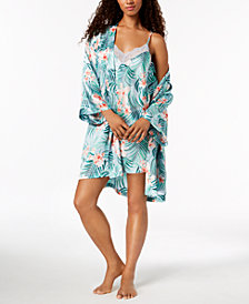 Thalia Sodi Tropical-Print Wrap & Chemise, Created for Macy's