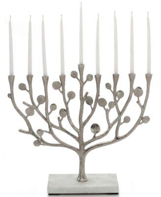Judaica Botanical Leaf Menorah