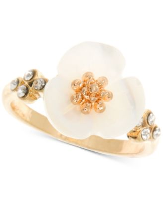 Gold-Tone Flower Statement Ring
