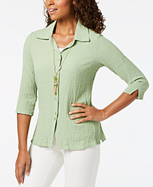 Alfred Dunner Parrot Cay Layered-Look Necklace Top