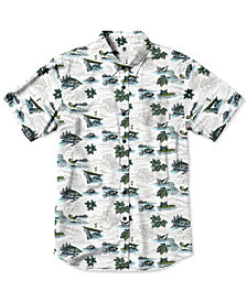 Element Men's Wendell Printed Poplin Shirt