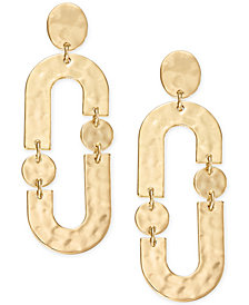I.N.C. Gold-Tone Link Drop Earrings, Created for Macy's