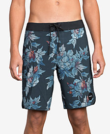 "RVCA Men's Bora Floral-Print 19"" Board Shorts"