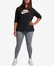 Nike Plus Size High-Waist Leg-A-See Leggings