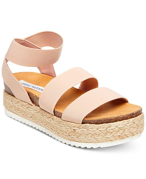 c64a231b6af Steve Madden Women s Kimmie Flatform Espadrille Sandals   Reviews ...