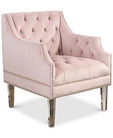 Kalina Velvet Chair, Quick Ship