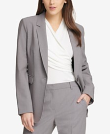 DKNY One-Button Blazer