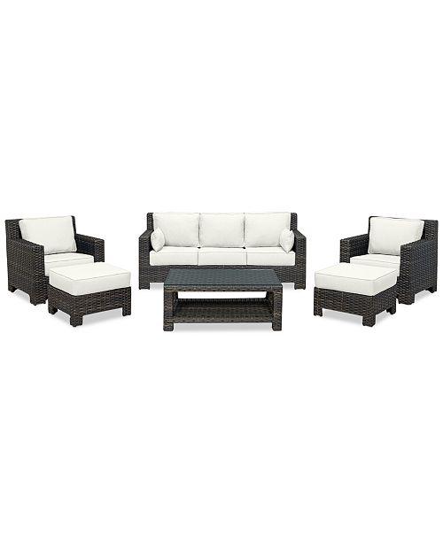 Phenomenal Furniture Viewport Outdoor Wicker 6 Pc Seating Set 1 Sofa Bralicious Painted Fabric Chair Ideas Braliciousco