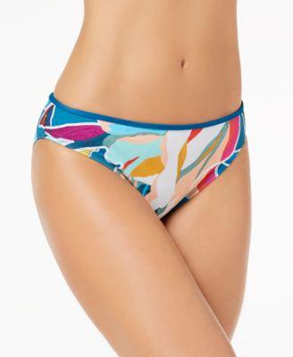 Go with the Flo-Ral Printed Hipster Bikini Bottoms