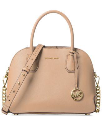 michael kors cindy medium pocket dome satchel handbags rh macys com