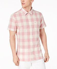 Calvin Klein Jeans Men's Guaze Checkered Shirt
