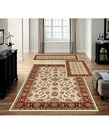 Stadio Meshed Ivory/Brick 3-Pc. Rug Set