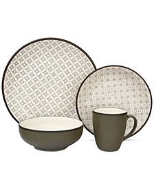 Sango Crystal Gray 16-Pc. Dinnerware Set
