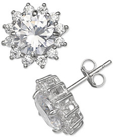 Giani Bernini Cubic Zirconia Starburst Stud Earrings in Sterling Silver, Created for Macy's