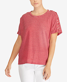 Lauren Ralph Lauren Lace-Up T-Shirt