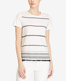 Lauren Ralph Lauren Embroidered Jersey T-Shirt