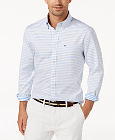Tommy Hilfiger Men's Karl Striped Shirt, Created for Macy's