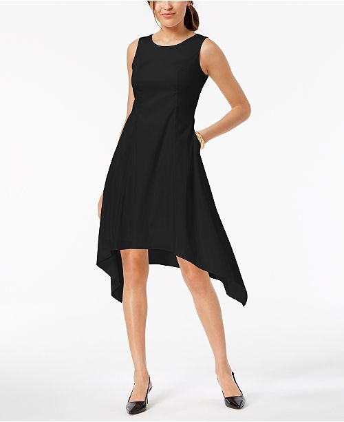 Alfani Sleeveless Asymmetrical Pocket Dress Created For Macys