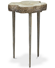 Chloe Fossilized Side Table, Quick Ship