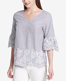 Calvin Klein Cotton Embroidered Top
