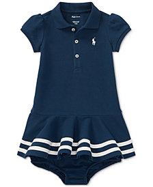 Ralph Lauren Cotton Polo Dress, Baby Girls