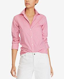 Lauren Ralph Lauren Petite Gingham Shirt