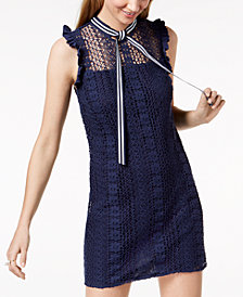 Maison Jules Lace Shift Dress, Created for Macy's