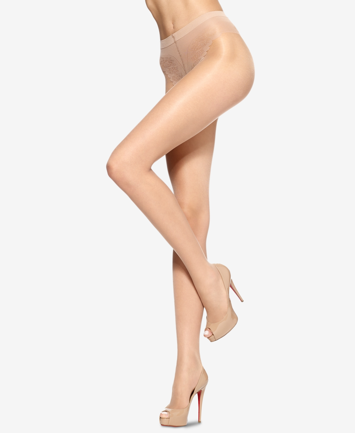 Hue Women's Toeless Pantyhose Sheers with Lace Panty