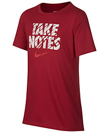 Nike Big Boys Notes-Print T-Shirt