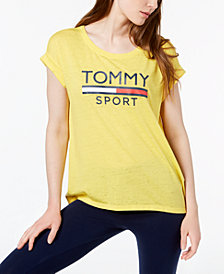 Tommy Hilfiger Sport Logo Rolled-Sleeve T-Shirt, Created for Macy's