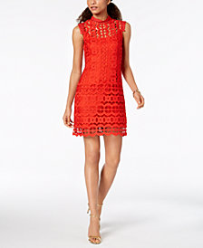 Laundry by Shelli Segal Geo-Lace Sheath Dress