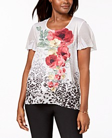Embellished Floral-Print Top, Created for Macy's