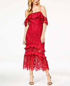 Rachel Zoe Poppy Lace Cold-Shoulder Dress