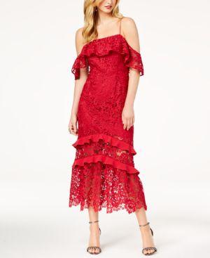 POPPY LACE COLD-SHOULDER DRESS
