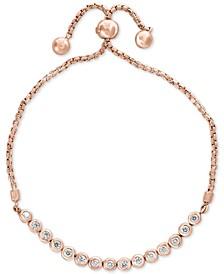 Bubbles by EFFY® Diamond Bezel Bolo Bracelet (5/8 ct. t.w.) in 14k Rose Gold
