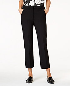 Weekend Max Mara Pesche Cropped Straight-Leg Trousers
