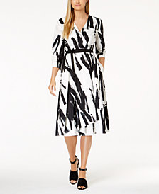 Weekend Max Mara Cartone Cotton Printed Wrap Dress