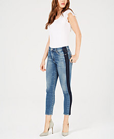 Citizens of Humanity Rocket Colorblocked Cropped Skinny Jeans