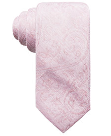 Ryan Seacrest Distinction™ Men's Savine Tonal Paisley Slim Tie, Created for Macy's