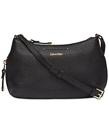 Calvin Klein Raelynn Pebble Leather Crossbody