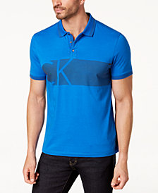Calvin Klein Men's Striped Logo Polo