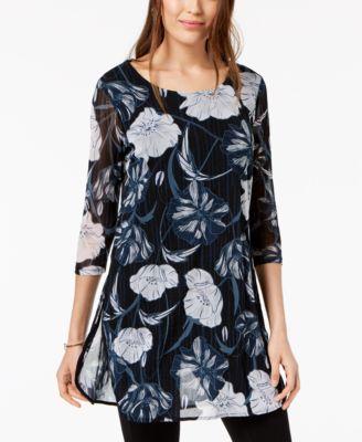 Printed Mesh Tunic, Created for Macy's