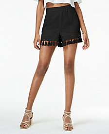 XOXO Juniors' Tassel-Hem Pull-On Shorts