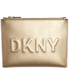 DKNY Mott Debossed Logo Pouch, Created for Macy's