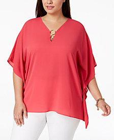 MICHAEL Michael Kors Plus Size Poncho Top