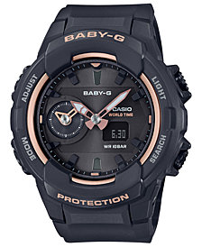 Baby-G Women's Analog-Digital Black Resin Strap Watch 42.9mm