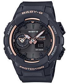 Baby-G Women's Analog-Digital Black Resin Strap Watch 42.9mm