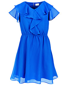 Us Angels Big Girls Ruffle-Trim Dress