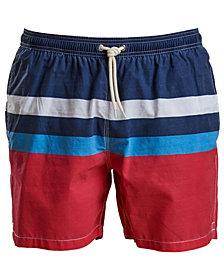 "Barbour Men's Colorblocked 5-1/2"" Swim Trunks"