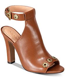 COACH Eddison Tea Rose Embellished Dress Sandals